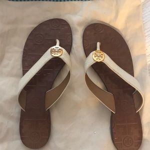 White Tory Burch Sandals